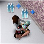The Sims 3 kid and imaginary friend doll