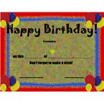 This Birthday Award honors the birthday boy or girl