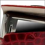 Krusell Croco Hector Leather Case in Red open