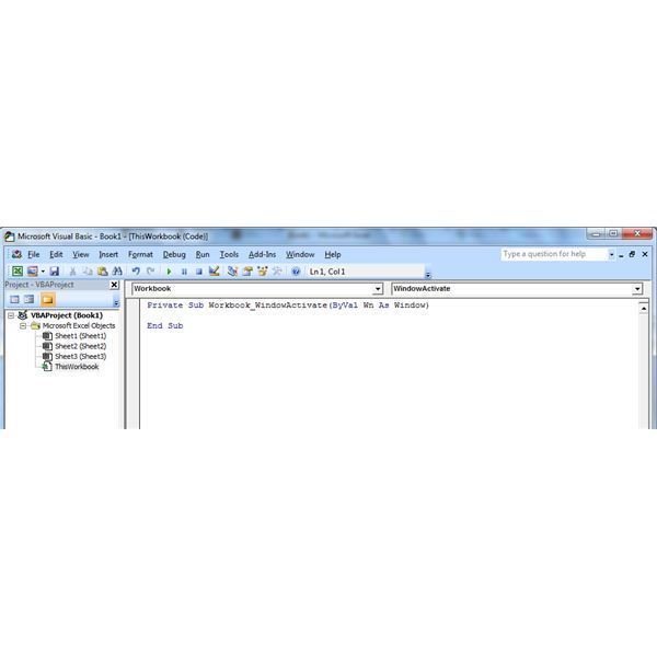 How to Use the Excel Window Activate Event