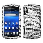 Black Zebra Skin Diamante Protector Cover