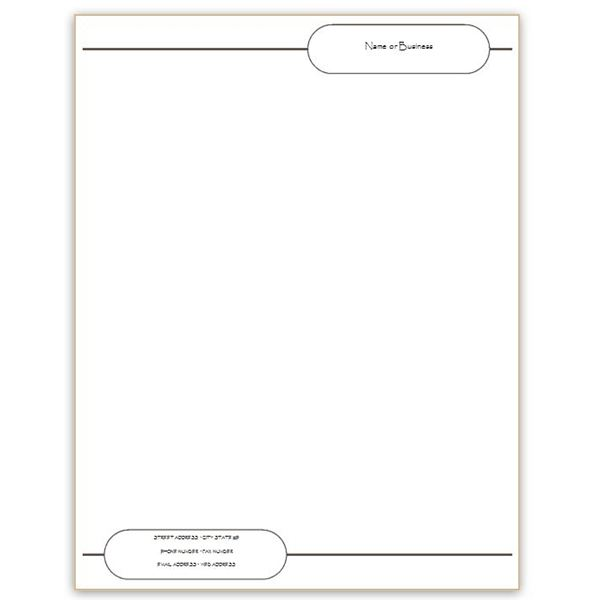 Six Free Letterhead Templates for Microsoft Word Business or – Personal Letterhead