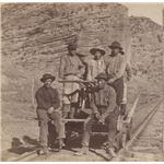 Library of Congress: Chinese immigrants working on the Union Pacific Railroad.