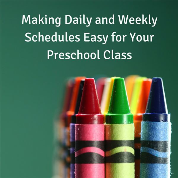Preschool Or  Year Old Schedule Samples For The Day And The Week