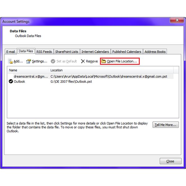 how to open email in outlook