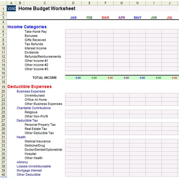 Home Office Deduction Worksheet Excel 010 - Home Office Deduction Worksheet Excel