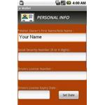 a Wallet For Google Android - Personal Information Screen