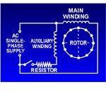 capacitor start motor circuit