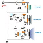 3 Way Speaker Crossovers, Circuit Diagram, Image