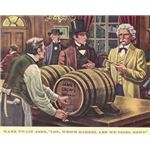 Mark Twain in an ad for Old Crow Whisky