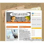 Foodiary, free blogger template codes