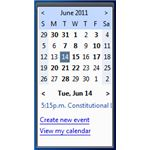 Google Calendar Gadget for Desktop