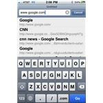 iPhone safari url bar