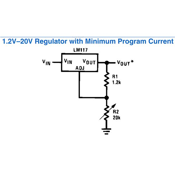 Application Circuits Using LM317 from National Semiconductor