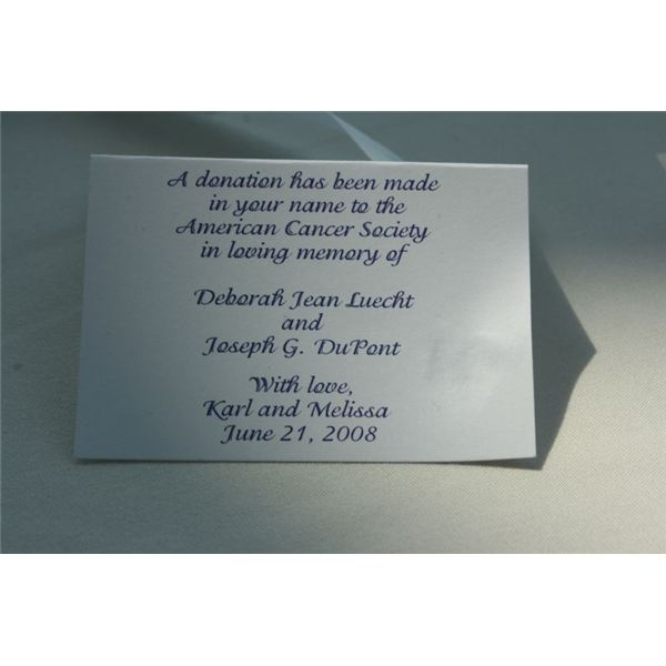 Wedding Gift Poems Charity : wedding donation card