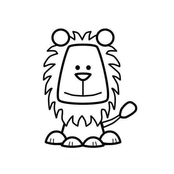 March With Lion Coloring Page