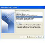Importing address book from Outlook 2007: Outlook 2007