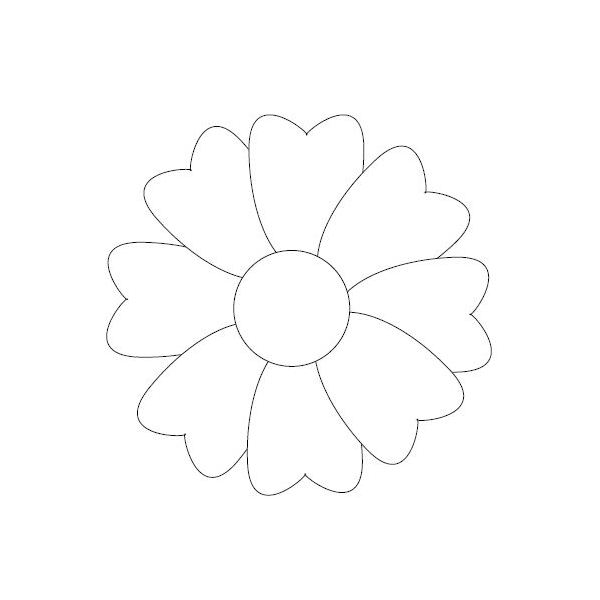 cute flower coloring sheet - Simple Flower Coloring Pages