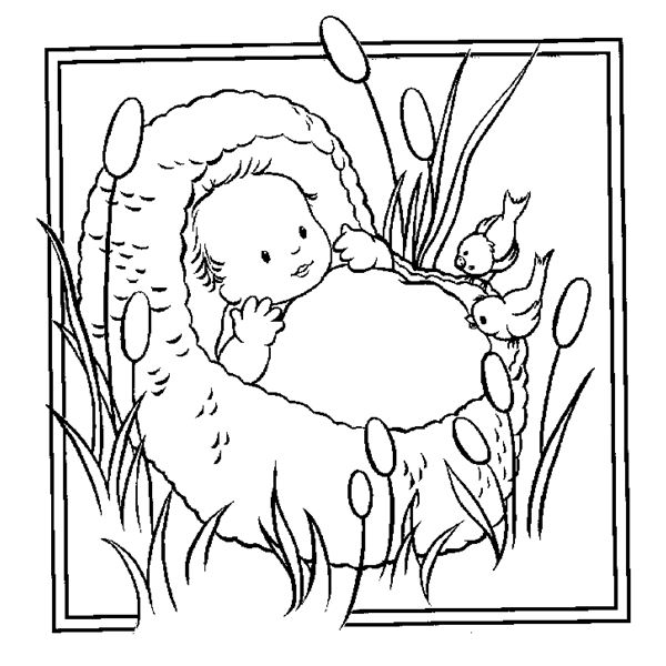 moses coloring sheets - Jan Brett Easter Coloring Pages