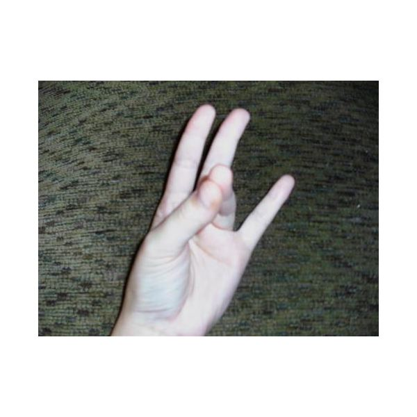 Hand Sign With Ring Finger Down