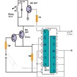 Simple Touch Operated Switch Circuit Diagram Using IC 4013, Image