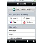 StumbleUpon iPhone app 1