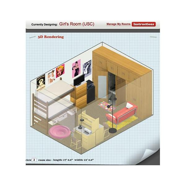 Virtual Room Design Using Dimensions
