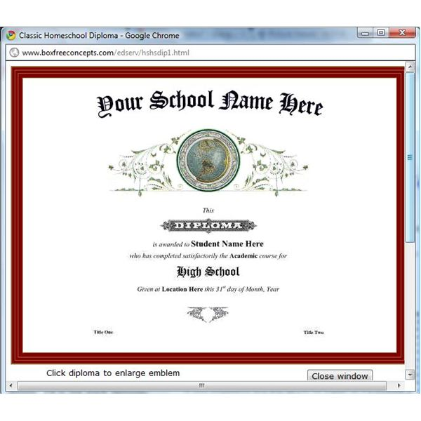 diploma word template