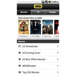 IMDB for Android Main Screen