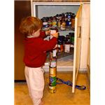 epetitively stacking or lining up objects may indicate autism.
