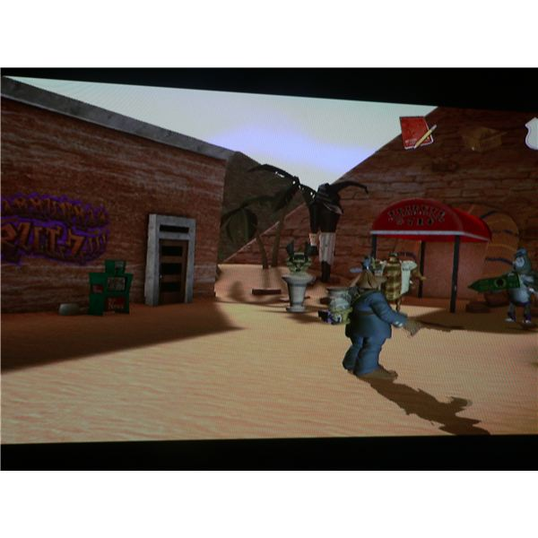 Sam and Max: They Stole Max's Brain Walkthrough - Sam and Max outside the Gift Vault.