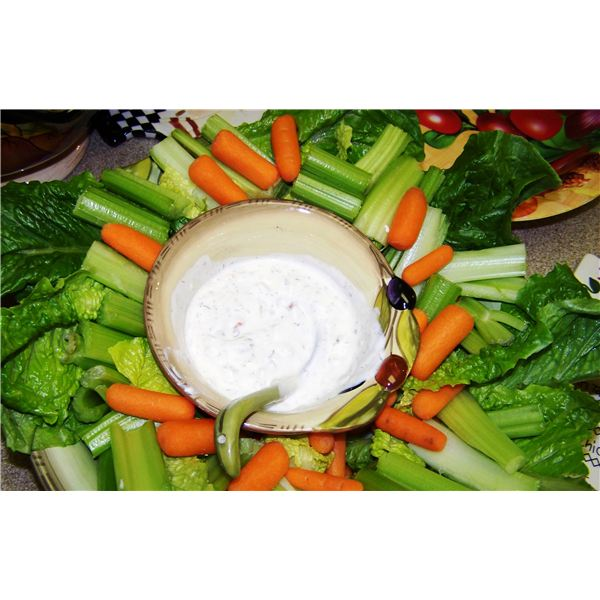 Home made cottage cheese dip with home grown mint