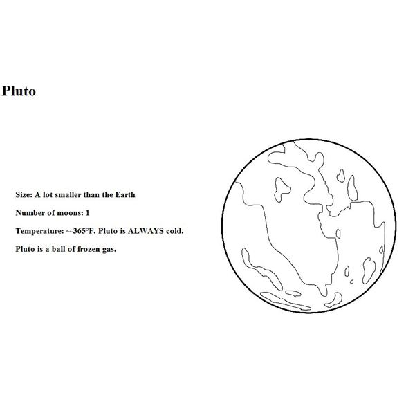 Windows To The Universe Solar System Coloring Book Pluto