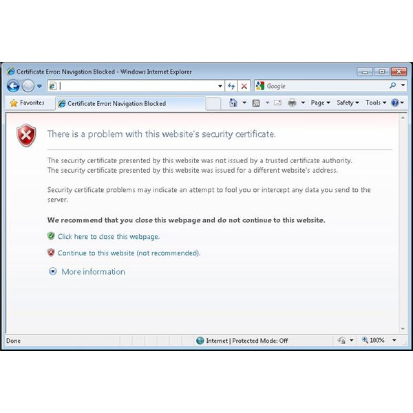 How to Bypass Security Certificates In Internet Explorer