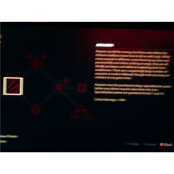 Dragon Age 2 Rogue Specialization Guide: The Assassin skill tree.