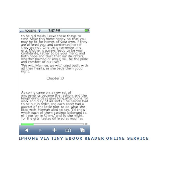 Tiny eBook Reader Online Version