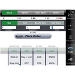Mobile stock trading screen