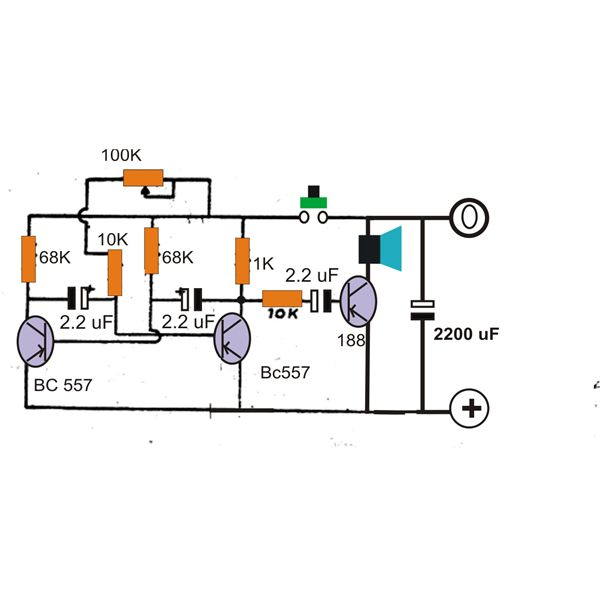 Wood Pecker Sound Generator Circuit Diagram, Image
