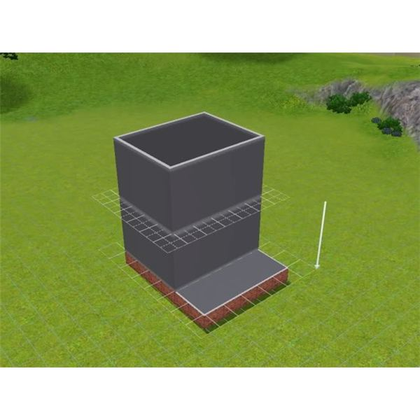 Creating an L-shaped staircase in the Sims 3 with a foundation