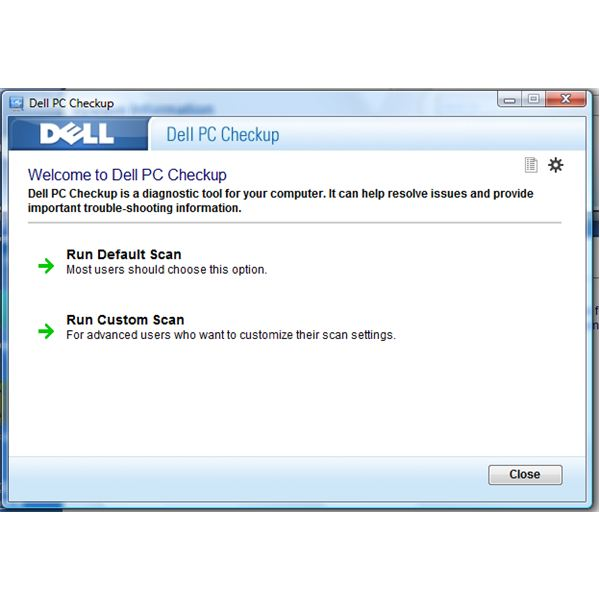 Scan Methods using Dell PC Checkup