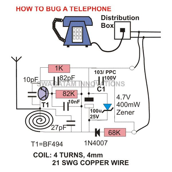 How To Bug A Telephone Or Record  Bugging Devices