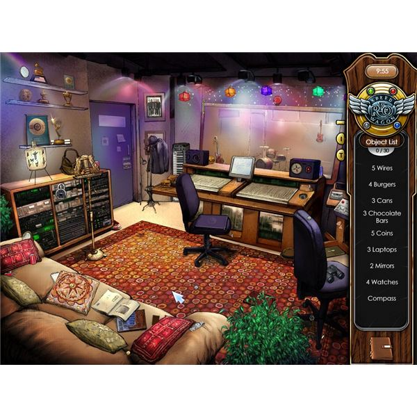 There are 30 hidden objects in the REO Speedwagon studio