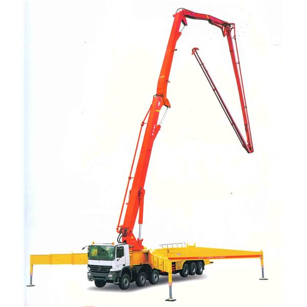 Truck-Mounted-Concrete-Boom-Pump-with-CE