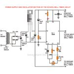 School Bell Timer, Oscillator Section, Circuit Diagram, Image