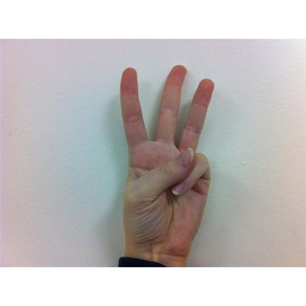 American Sign Language: Fingerspelling W
