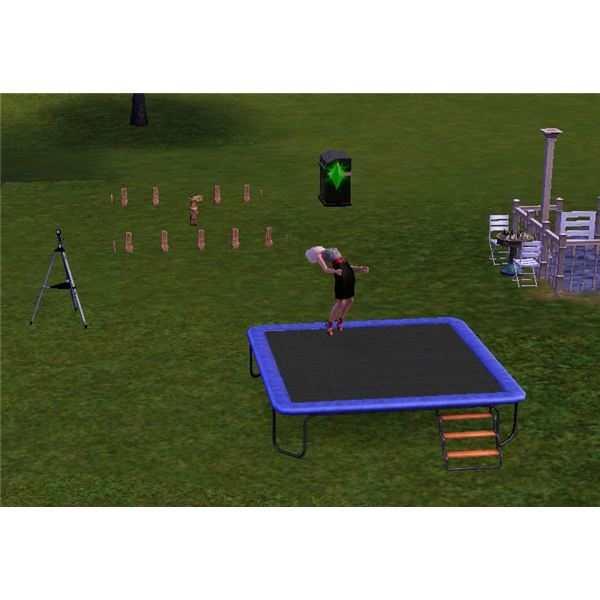 The Sims 3 Trampoline