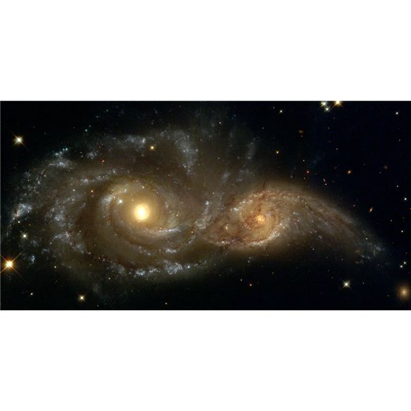 NASA Two Spiral Galaxies