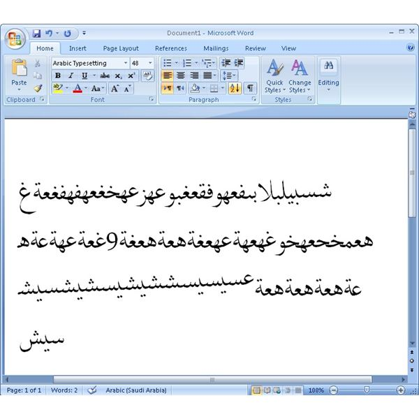 Get and Install Arabic Fonts for Windows and Word