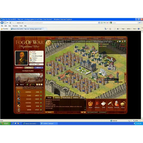 Fog Of War (Napoleonic Wars) Browser Game Review