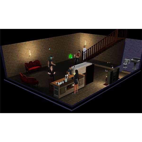 The Sims 3 vampire hidden bar